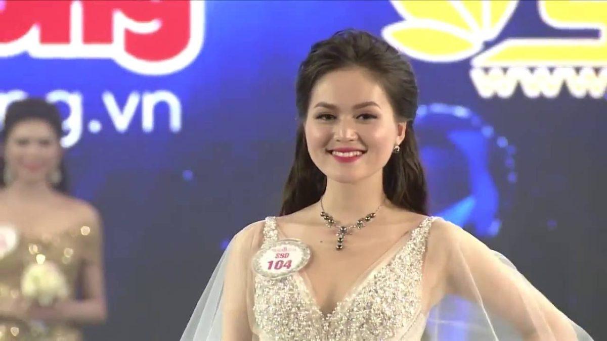 Vẻ đẹp kiêu sa của thí sinh đạt giải Trang phục dạ hội đẹp nhất – Trần Thị Thu Hiền