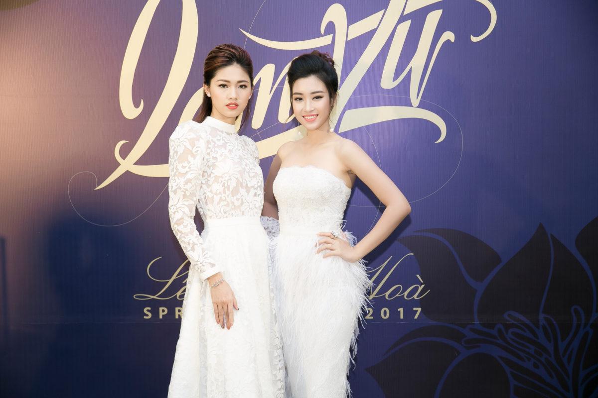Mỹ Linh & Thanh Tú đọ sắc cùng đầm trắng tại show Lê Thanh Hòa