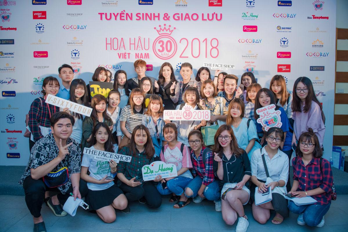 """Cuối cùng Tour quảng bá tuyển sinh HHVN 2018 cũng đến với """"Ngôi trường của các Hoa hậu"""""""