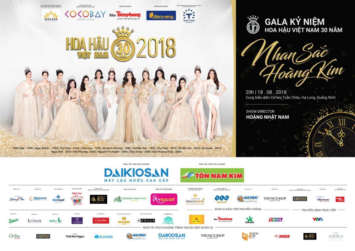 Trực tiếp Gala 30 năm Hoa Hậu Việt Nam 2018