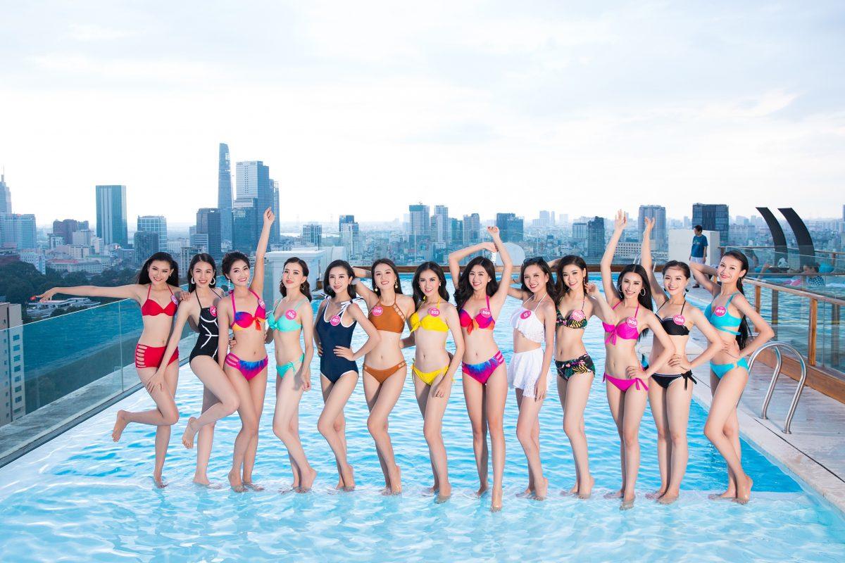 Thí sinh HHVN 2018 khoe dáng chuẩn bên hồ bơi chân mây của Léman Luxury Apartments