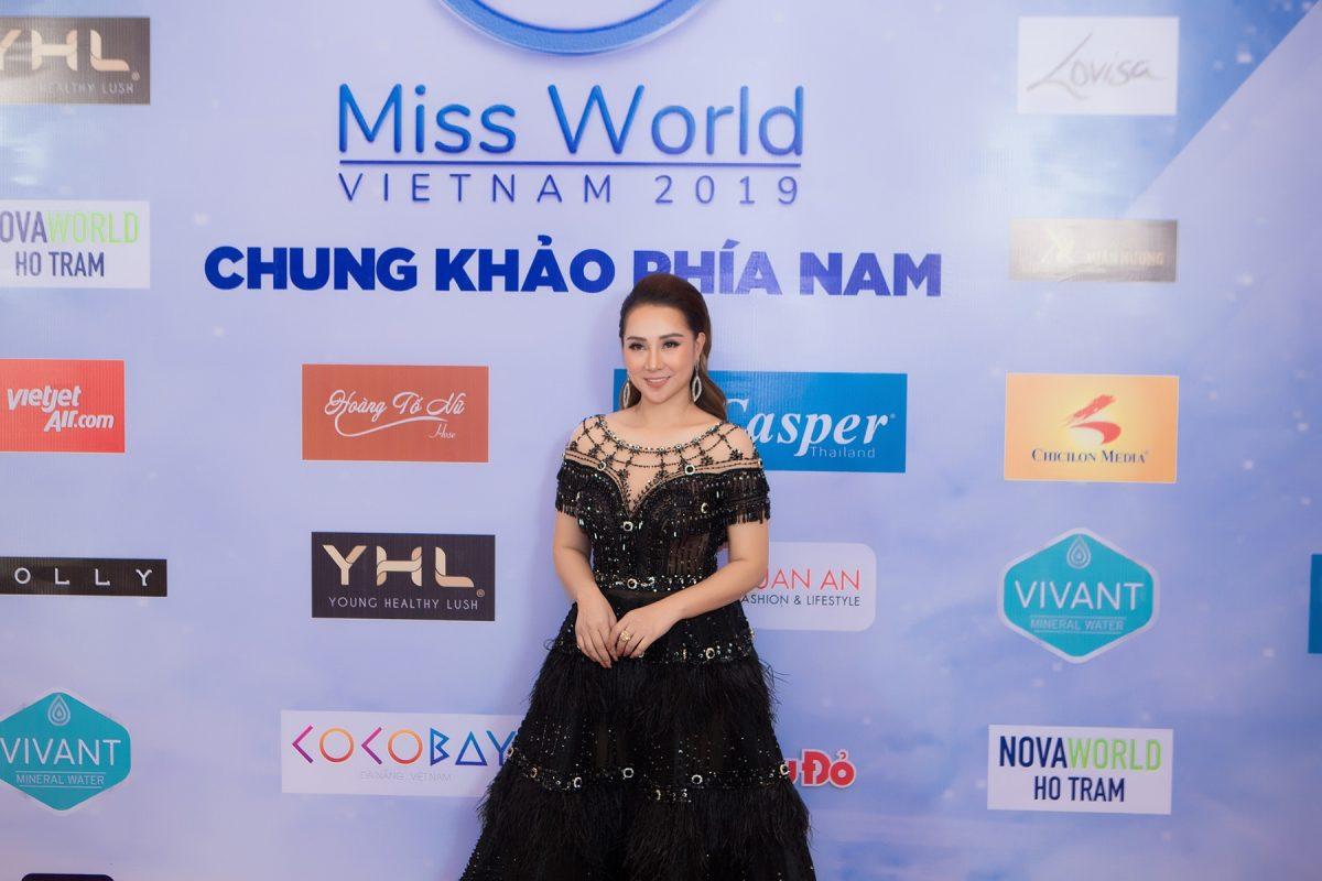 Hằng Lê lộng lẫy, khoe sắc tại đêm chung khảo phía Nam với vai trò Cố Vấn Sắc Đẹp Miss World Vietnam 2019