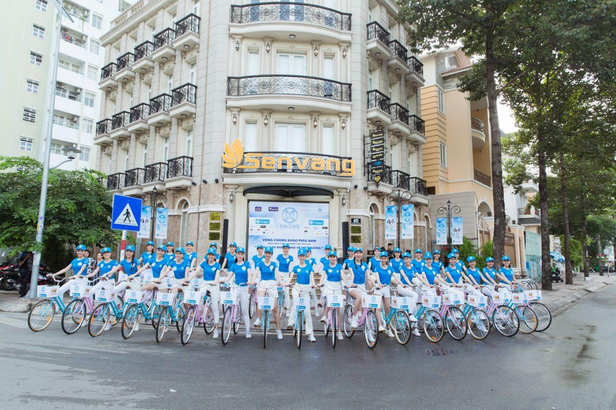 Thế giới đang kêu gọi sống xanh, thí sinh Miss World Việt Nam rủ nhau đạp xe vì môi trường