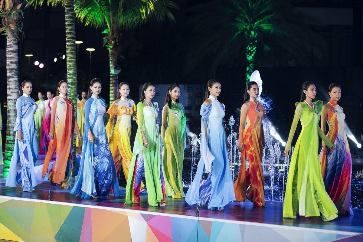Top 39 Miss World Vietnam duyên dáng kết hợp áo dài cùng ngọc trai