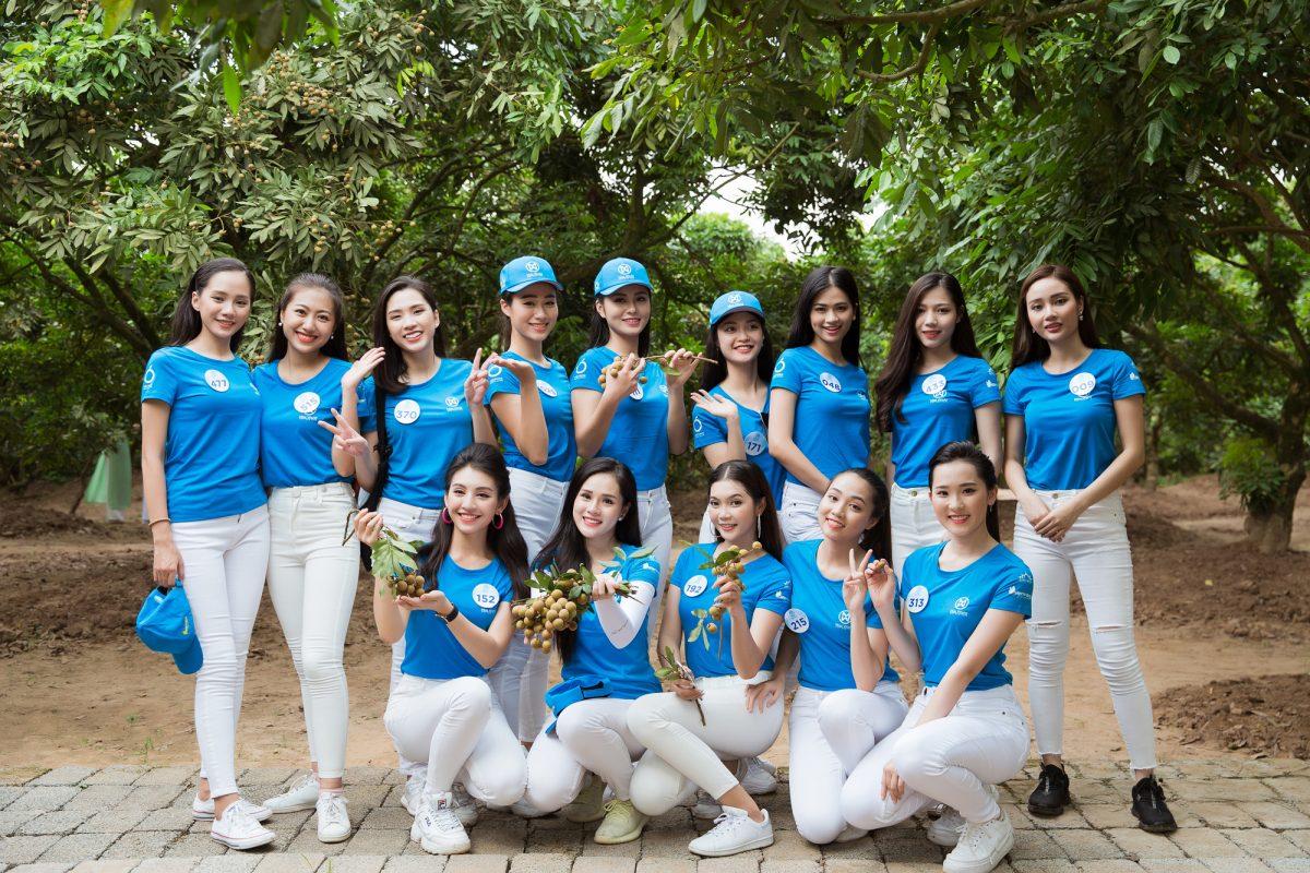 Top 34 phía Bắc Miss World Vietnam 2019 hào hứng tham quan vườn nhãn Hưng Yên